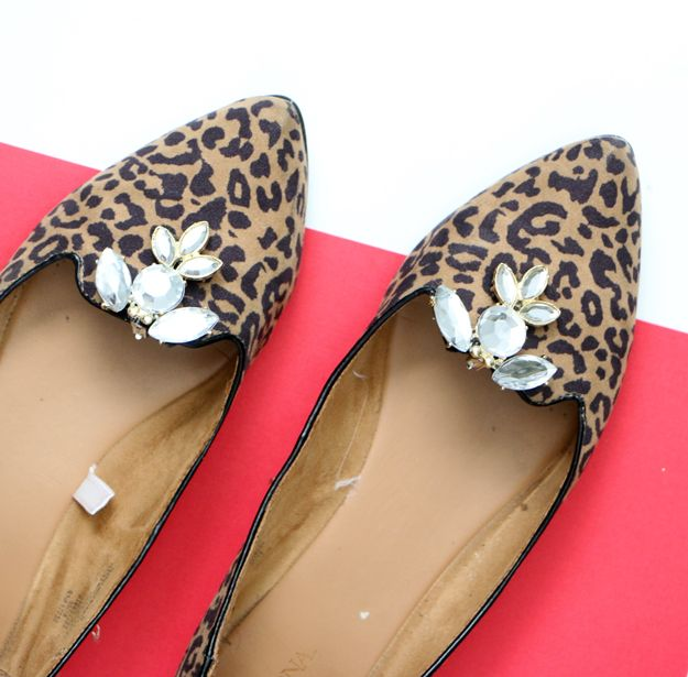 DIY Shoe Clips On animal print design