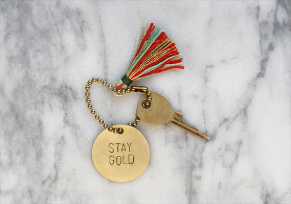 DIY Stamped Brass Keychain