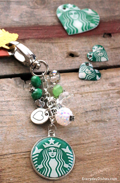 DIY Starbucks Keychain