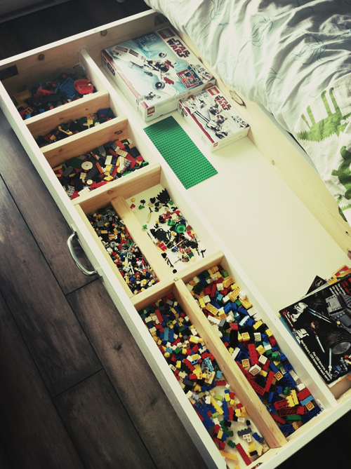 DIY Under the Bed Lego Storage