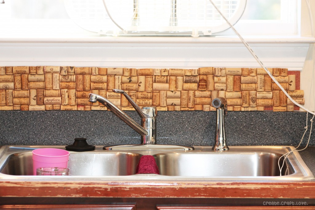 DIY Wine Cork Backsplash