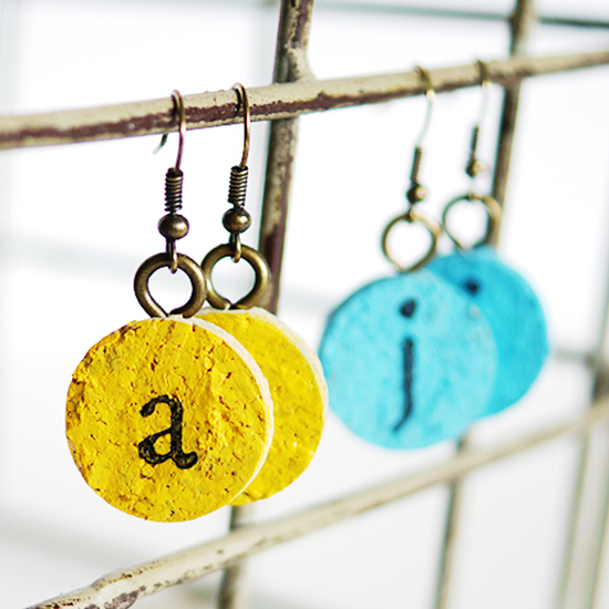 DIY Wine Cork Earrings