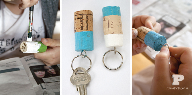 DIY Wine Cork Keychain
