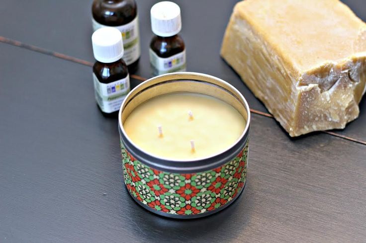 DIY aromatherapy candles