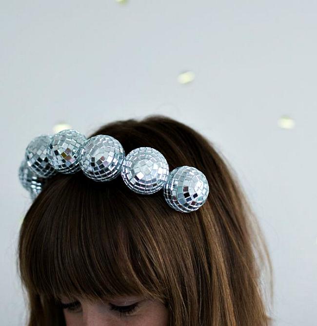 DIY-disco-ball-headband