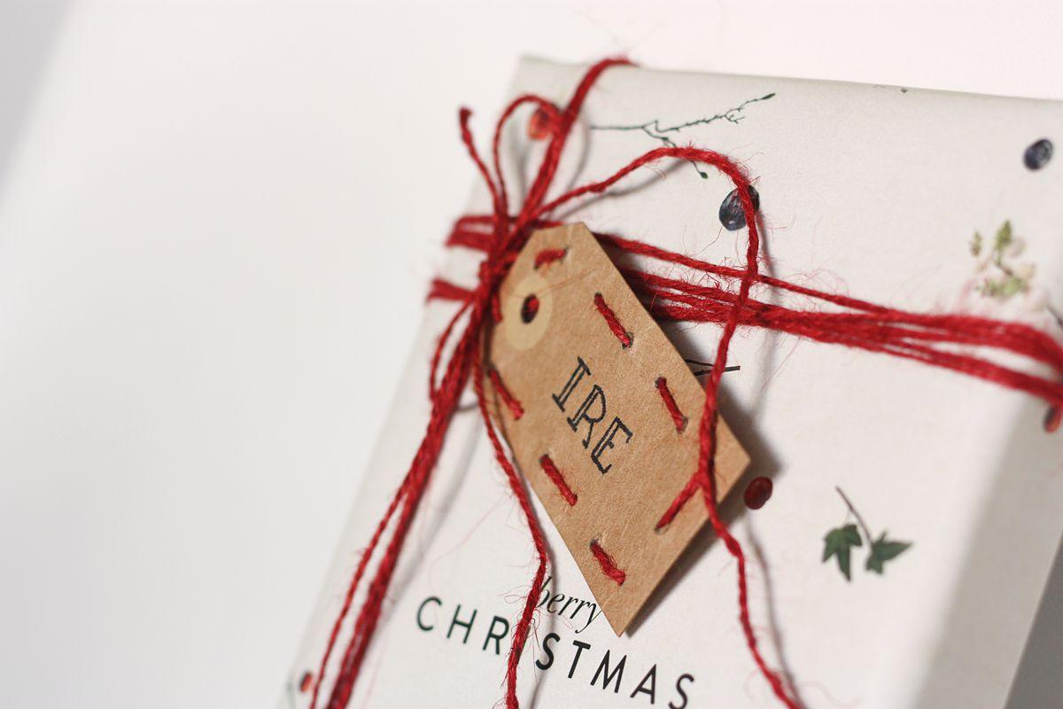 DIY gift tag embrodered set 3