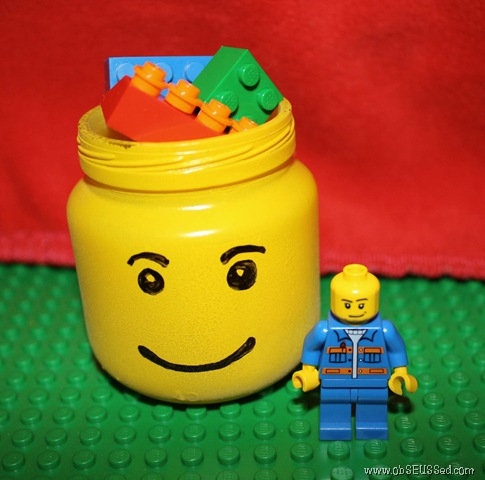 DIy Lego Storage Jars
