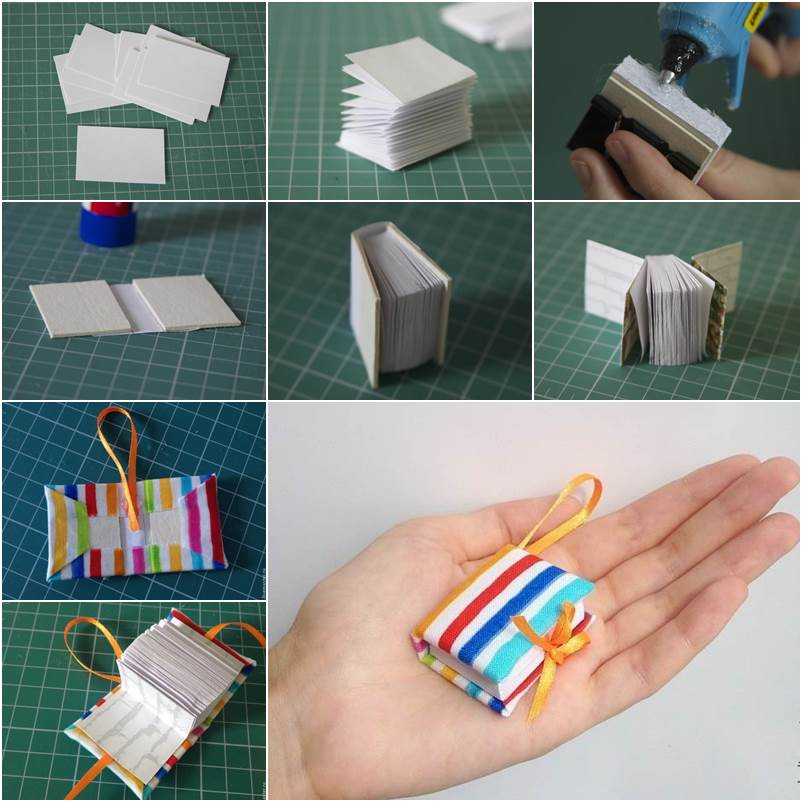 DIy Mini Book Keychain