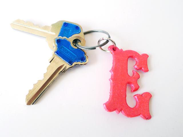 DIy Monogram Keychain