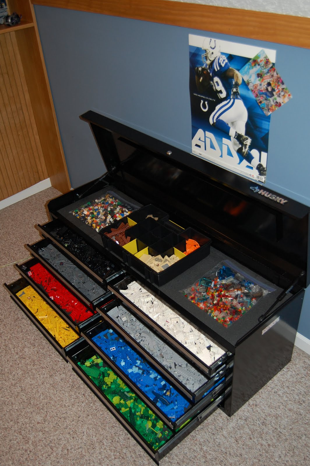 21 diy lego trays and organization ideas. Black Bedroom Furniture Sets. Home Design Ideas
