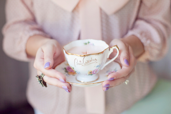 DIy Vintage Teacup Candle