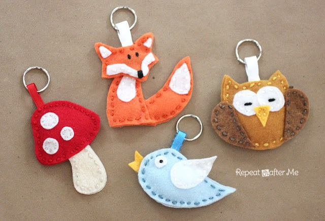 Diy Felt Animal Keychains