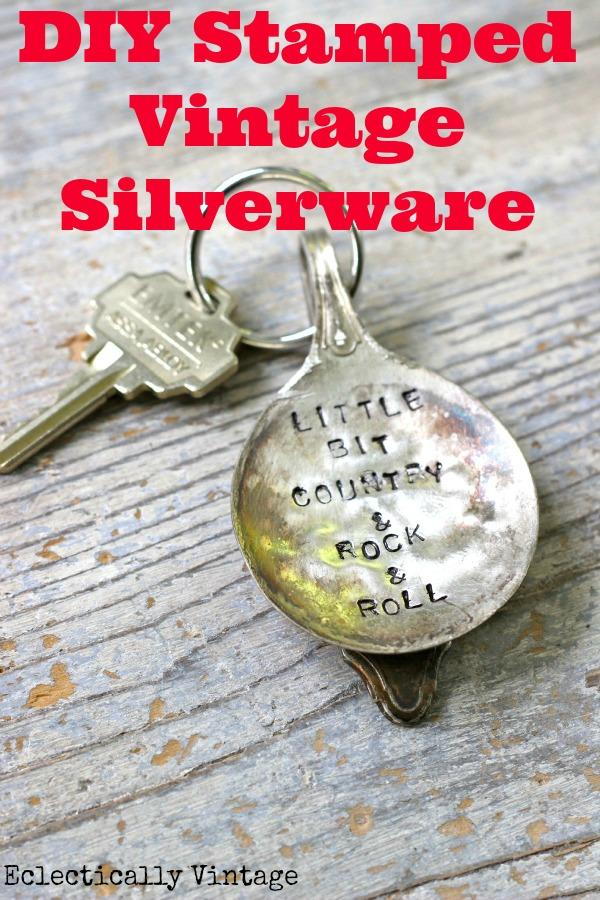Diy Stamped Silverware Keychain