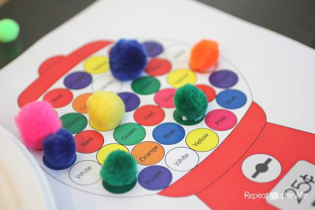 Gumball Pom Pom Color Game