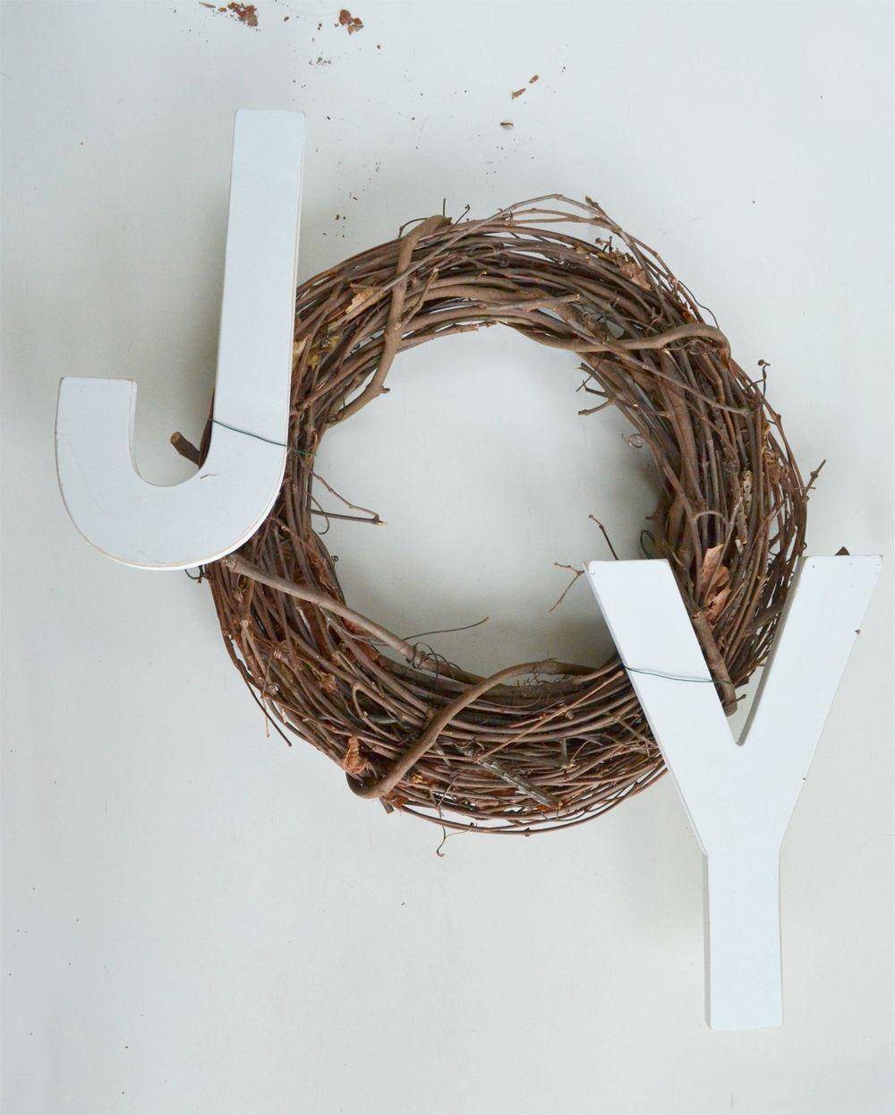 Joy Holiday Wreath - Add to wreath