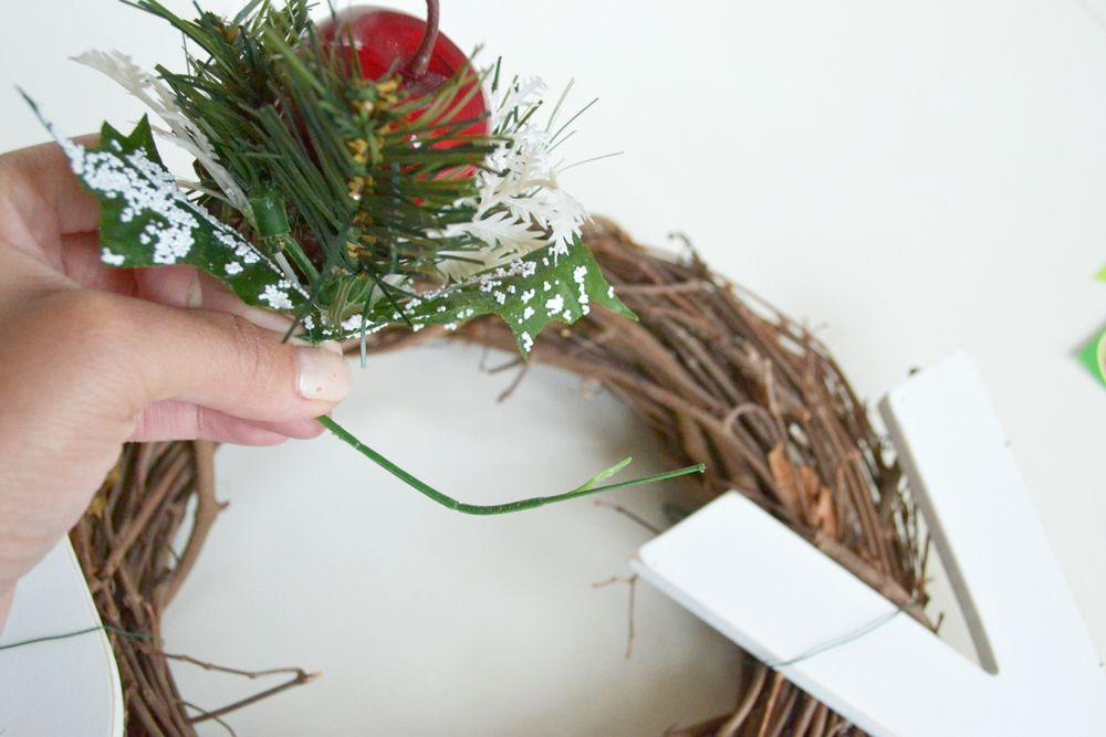 Joy Holiday Wreath -add flowers