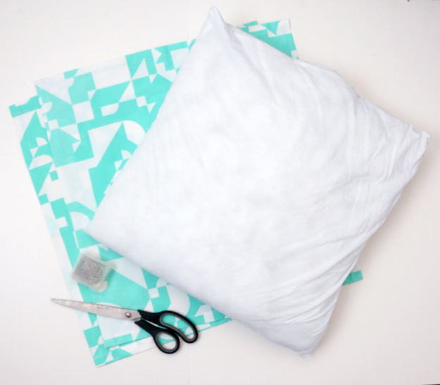 Materials to Create A Pillowcase Out of Napkins