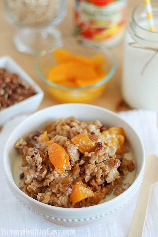 Peach Crockpot Oatmeal