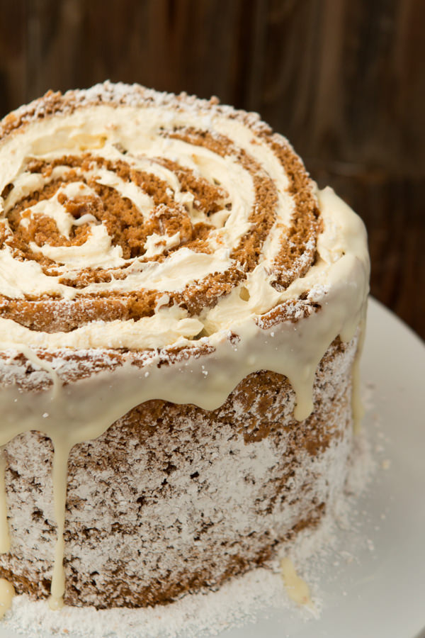 Pumpkin Roll White Chocolate Cake Recipe