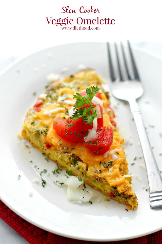 Slow-Cooker-Veggie-Omelettte