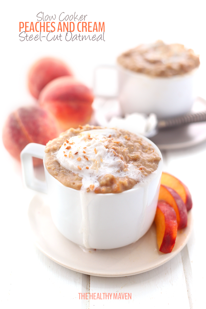 Slow-cooker-Peaches-and-Cream-Steel-Cut-Oatmeal