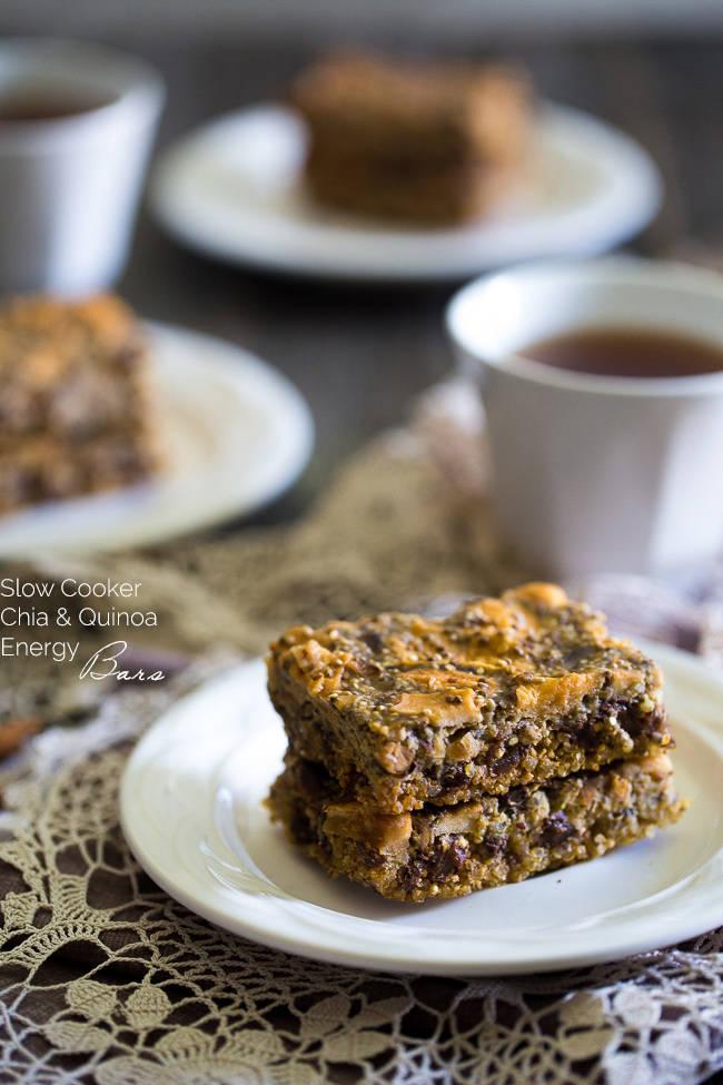 Slow cooker chia quinoa energy bar recipe