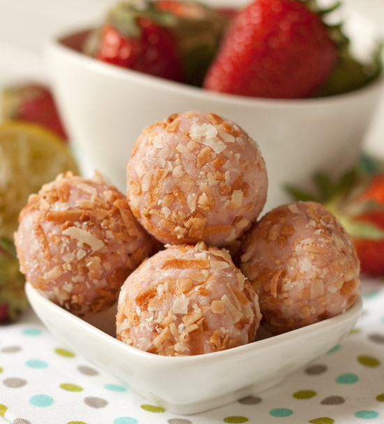 Strawberry-Lime-Truffles