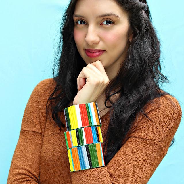 colorful large cuff bracelets