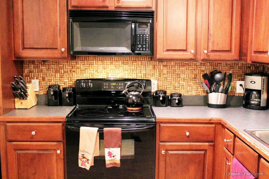cork kitchen backsplash