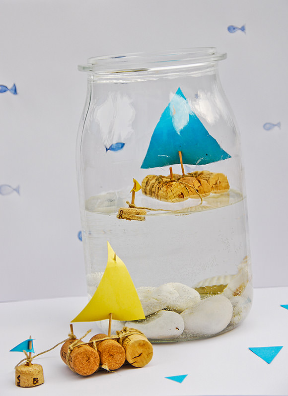 cork sailboat for kids