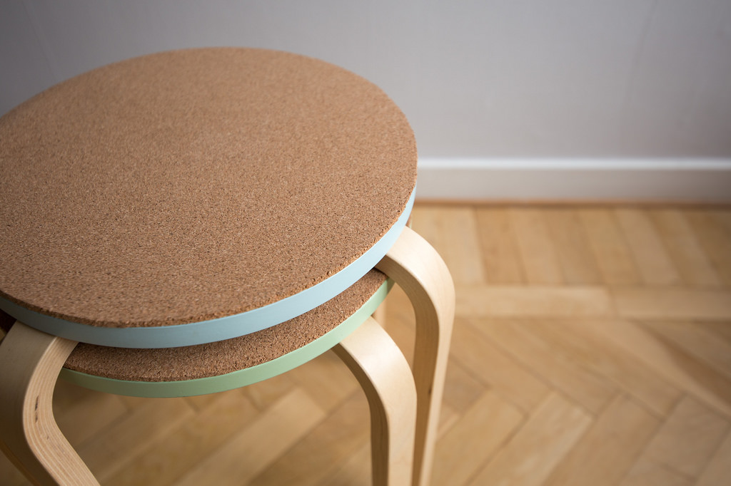 cork stool ikea hack