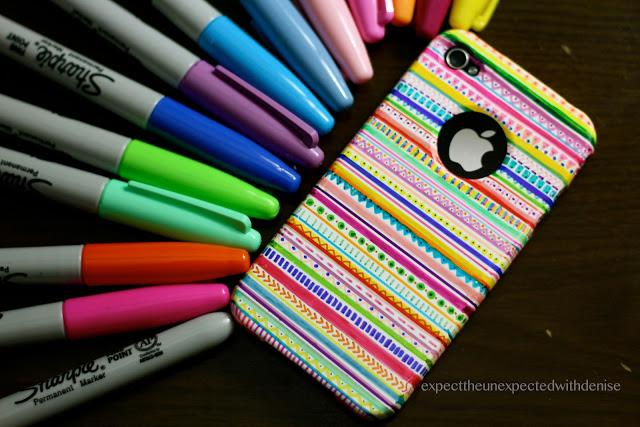 diy sharpie phone case