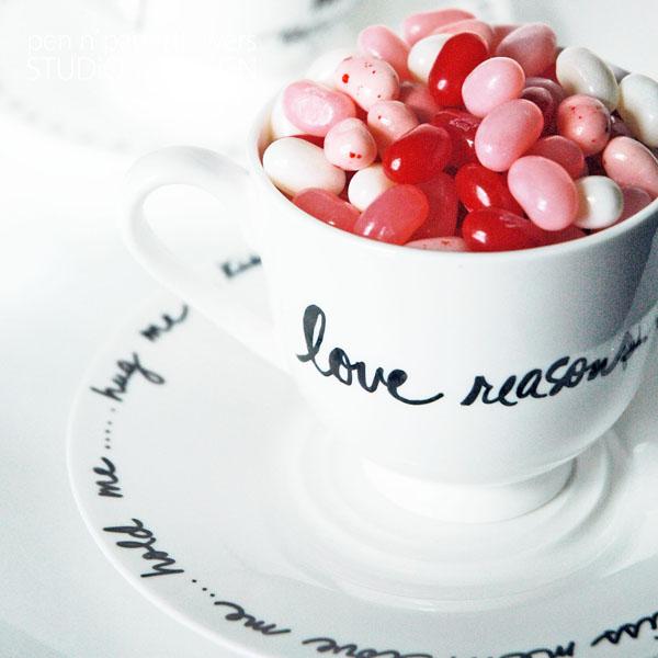 diy sharpie teacup and saucer