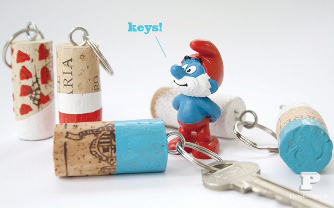 floating cork key chain