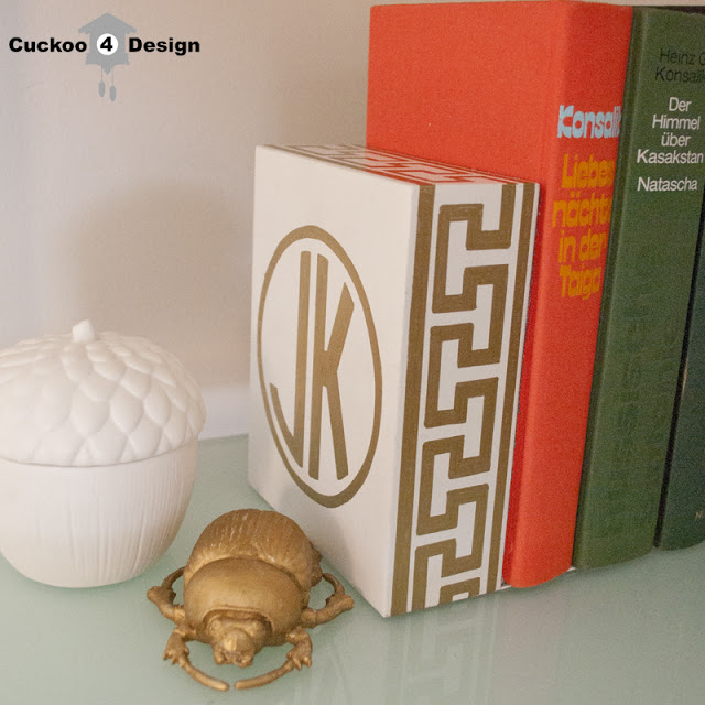 gold-sharpie-monogramed-bookends