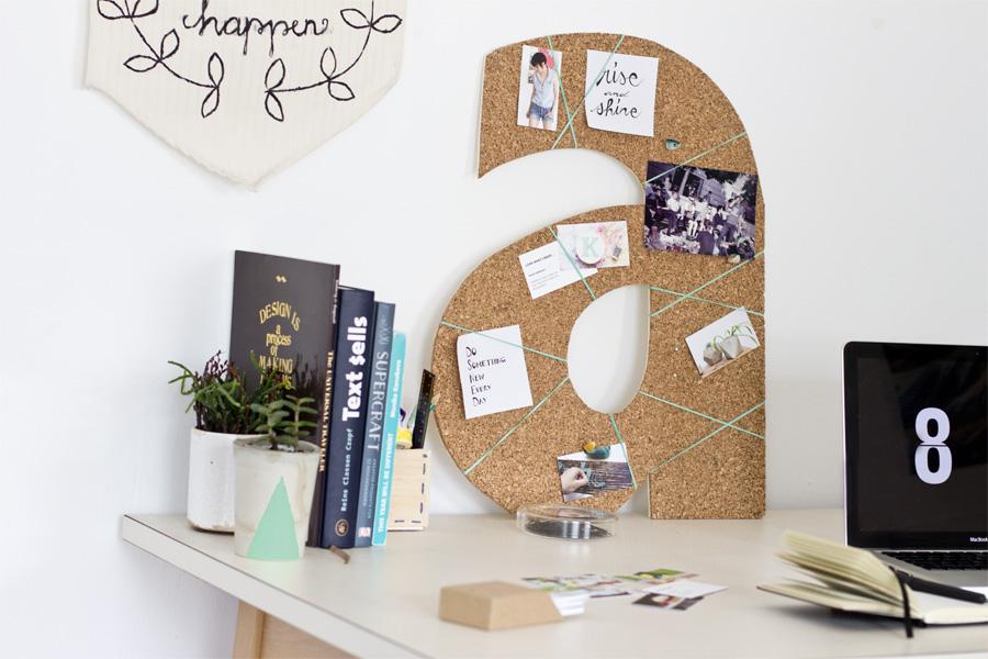 unusual design magnetic bulletin board. Cork Monogram Pinboard 50 Creative DIY Projects Using