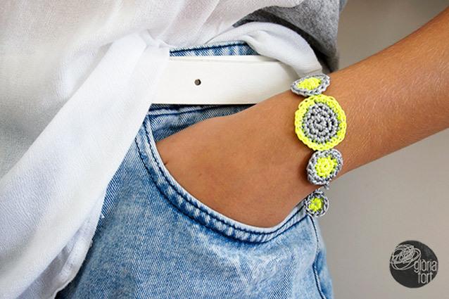 neon and gray bracelet