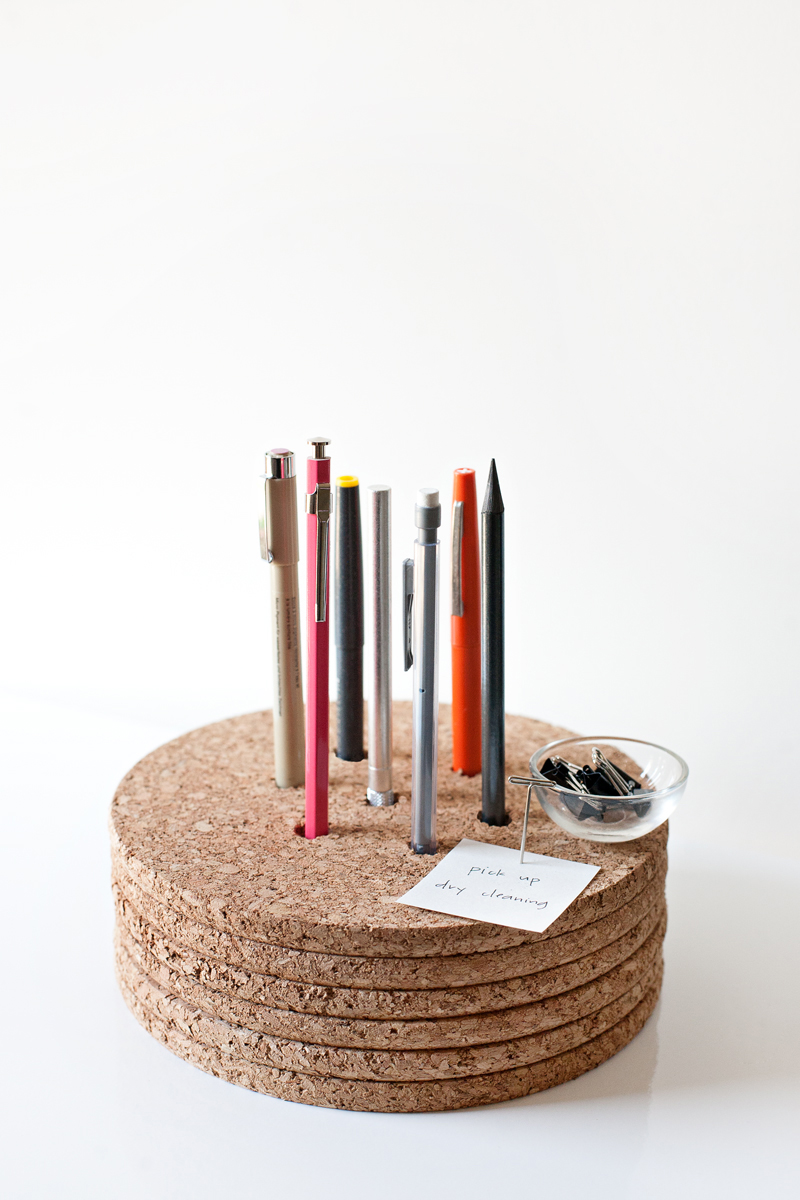 pencil holder cork