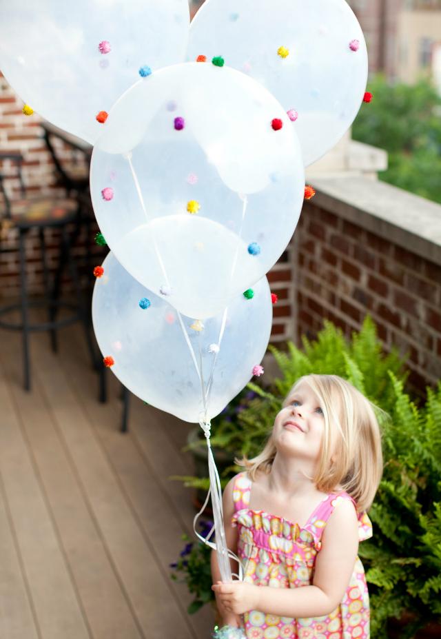 pom pom balloon craft