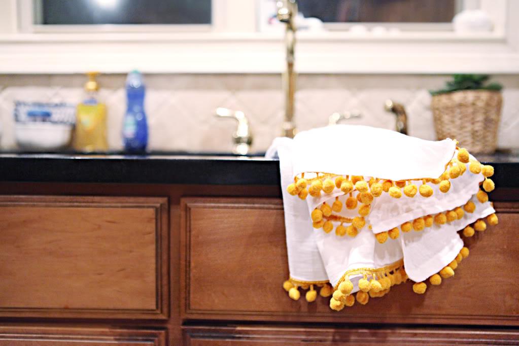 pom pom kitchen towels