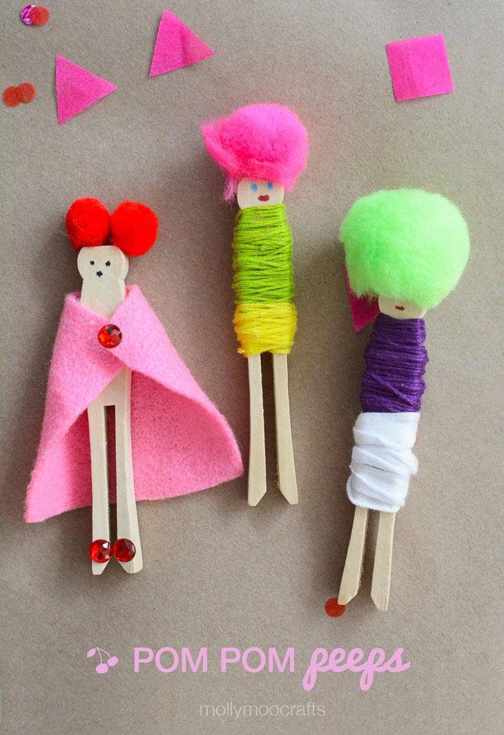 pom pom-peg-dolls