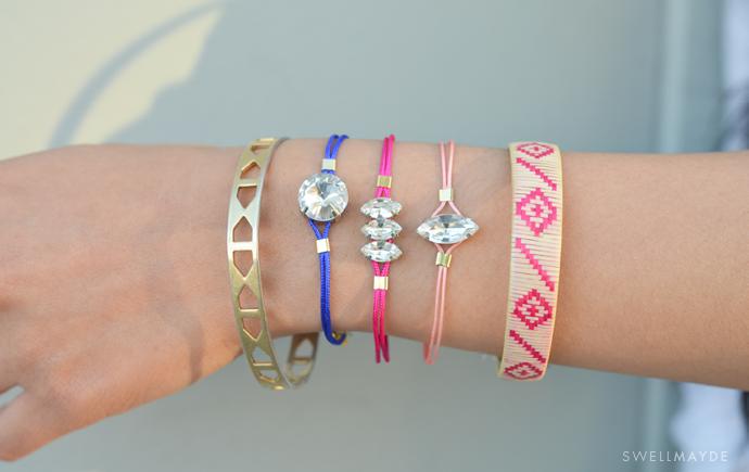 rhinestone bracelet diy