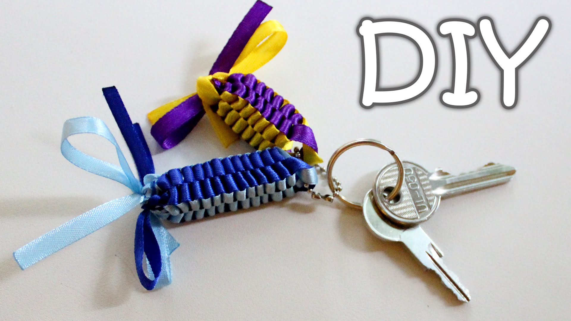 ribbon keychain diy