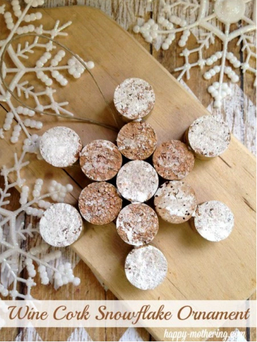 snowflake cork slices