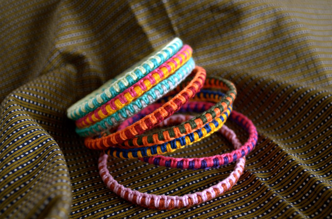 wrapped bangle bracelets