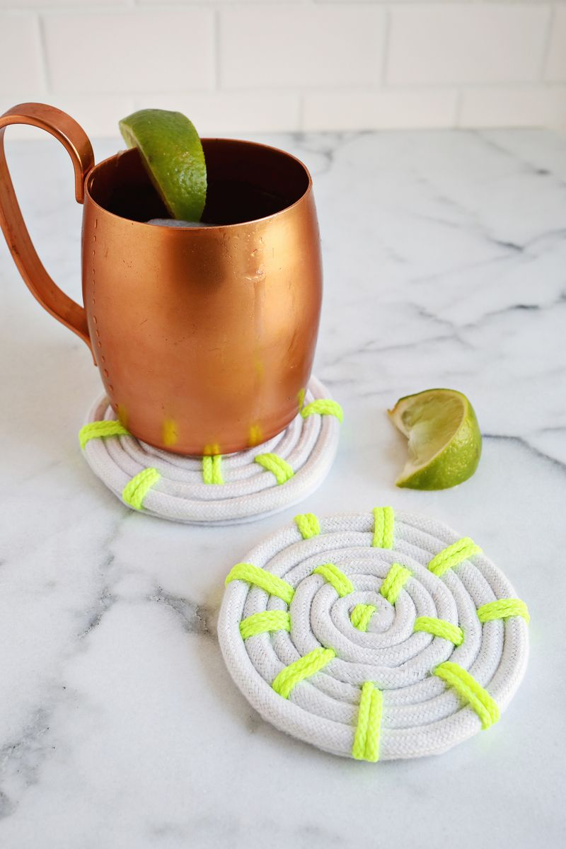 1 neon rope coasters
