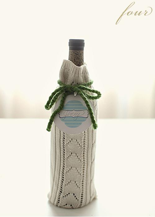 24 wine bottle sweater wrap
