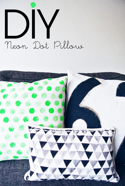 28 neon dot pillow