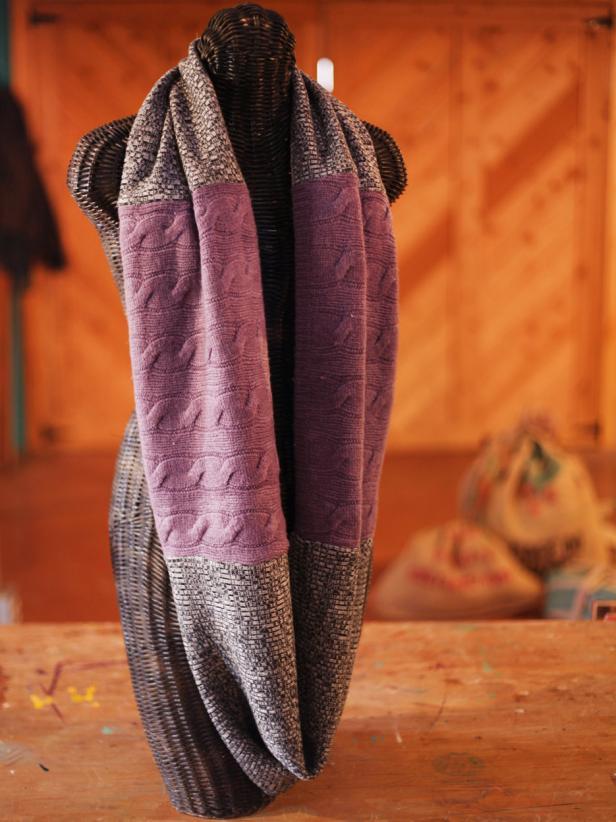28 paneled sweater scarf