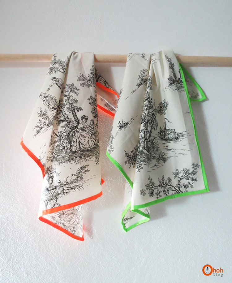 29 neon trim tea towels